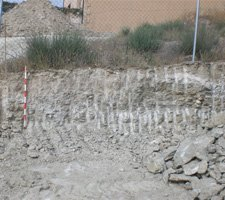 Control arqueologico en calle Escultura de Aranjuez