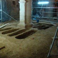 Excavacion arqueologica en la Iglesia de Montejo