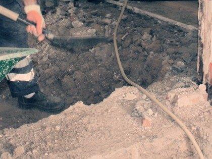 Seguimiento Arqueologico en calle Valeras, 71 Aranjuez