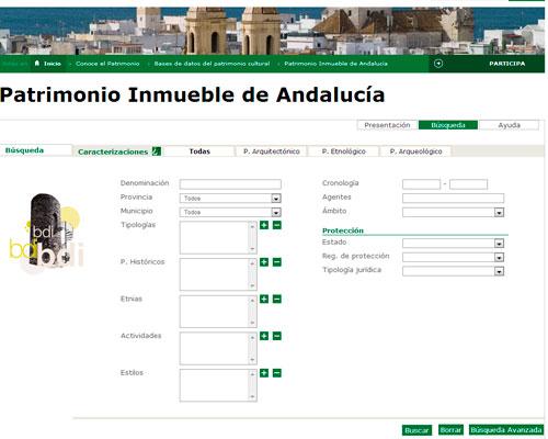 Base de Datos Bienes Inmuebles Andalucia
