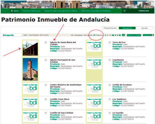Resultado Bienes Inmuebles de Andalucia