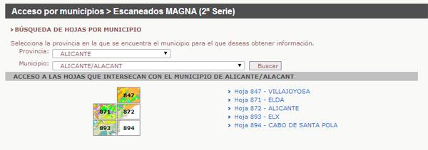 Resultado de la busque de mapa geologico de Alicante