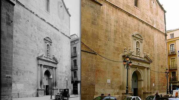 Comparando fotos de la Concatedral de Alicante