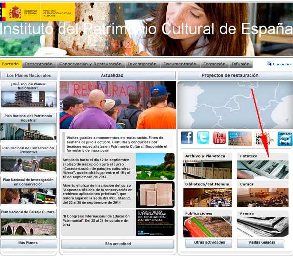 Pagina web IPCE